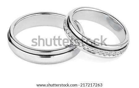 wedding rings - stock photo