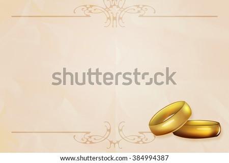 Wedding Rings Background - stock photo