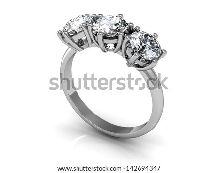 wedding rings (high resolution 3D image) - stock photo