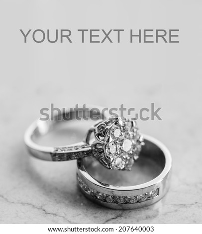 Wedding rings set - stock photo