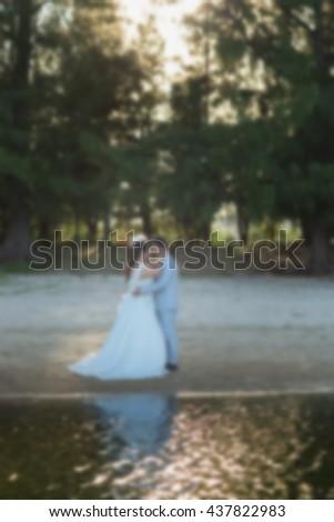Wedding romantic Blurred Background  - stock photo