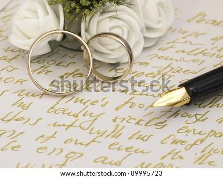 wedding settings - stock photo