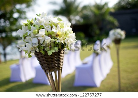 wedding setup detail - stock photo