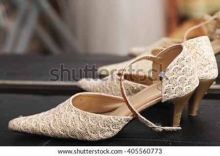 wedding shoes for women. - stock photo