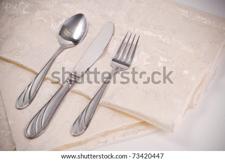Wedding Table Place Setting - stock photo