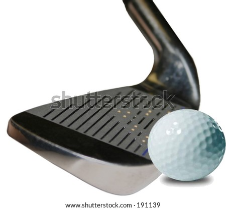 Wedge and BAll - stock photo
