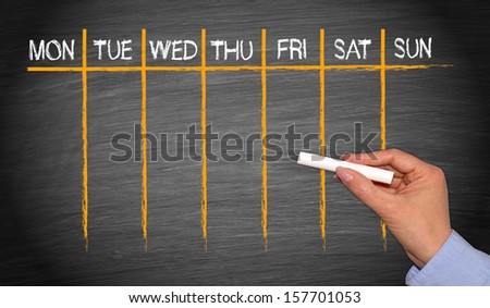 Weekly Calendar - stock photo