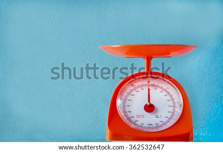 Weight Balance Weighing Scale Machine  with clipping path - stock photo