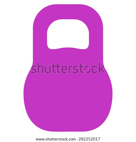Weight icon from Basic Plain Icon Set. Style: flat vector image, violet color, rounded angles, white background. - stock photo