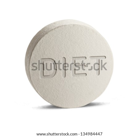 weight loss medicine isolated on a white background. - stock photo