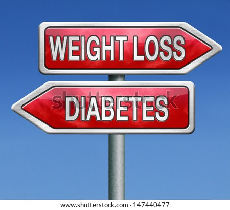 weight loss or diabetes prevention and treatment overweight diet for diabetic adults and children dieting helps fighting this sickness - stock photo
