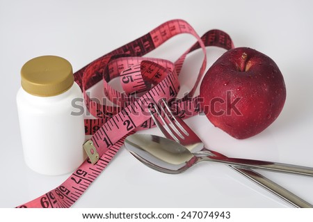 Weight Loss Program Concept, Selective Focus - stock photo