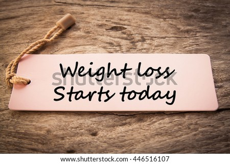 Weight loss starts today concept  - stock photo