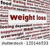 Weight loss warning message background. Overweight medical poster design - stock photo