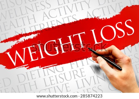 WEIGHT LOSS word cloud, fitness, sport, health concept - stock photo