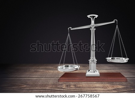 Weight Scale. Balancing Scales - stock photo