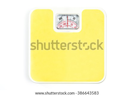 Weight scale isolated on white background - stock photo