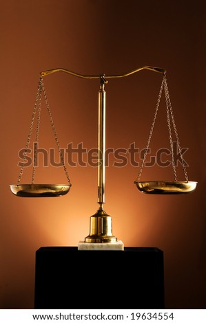 Weight scales over a brown background with spotlight - stock photo