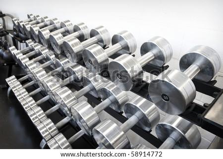 Weight Training Equipment - stock photo