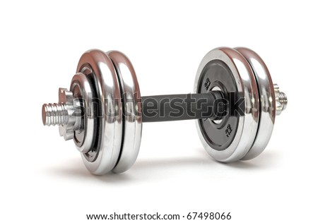 Weights, isolated on white background - stock photo