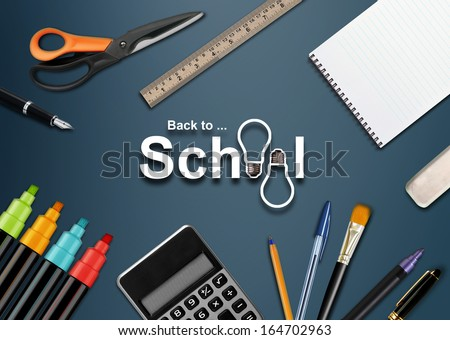 Welcome Back to school background . - stock photo