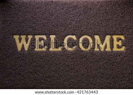 Welcome carpet and texture - stock photo