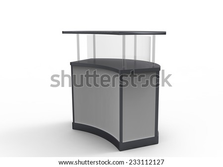 welcome desk - stock photo