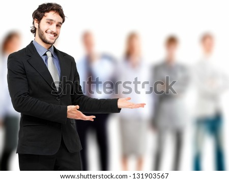 Welcome in the team - stock photo