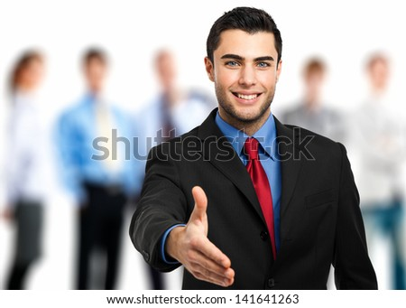 Welcome into the team  - stock photo