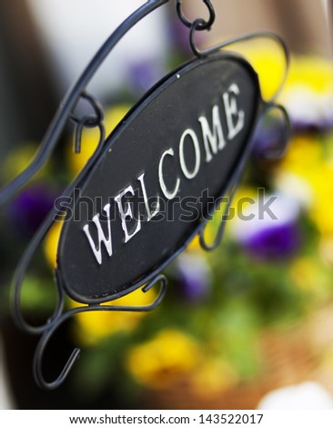Welcome sign - stock photo