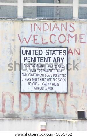 Welcome to Alcatraz - stock photo
