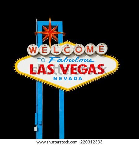 Welcome to Fabulous Las Vegas Neon Sign - stock photo