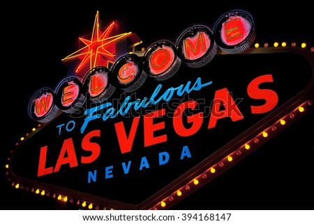 Welcome to fabulous Las vegas Nevada sign in black - stock photo
