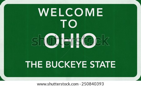 Welcome to Ohio USA Road Sign - stock photo