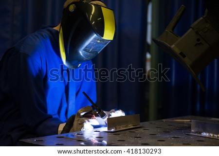 Welding aluminum - stock photo