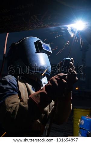 Welding work - stock photo