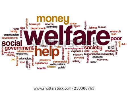 Welfare word cloud concept - stock photo