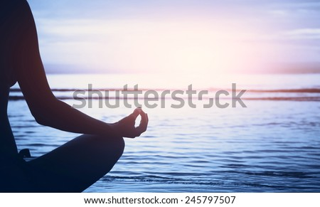 well being concept, yoga background - stock photo