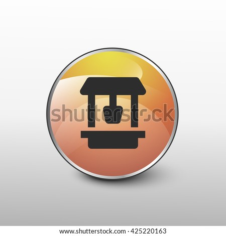 well icon. well sign - stock photo