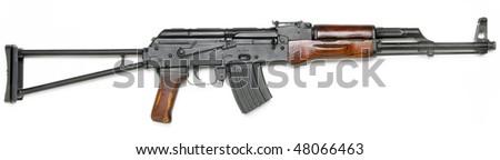 Well known AK-47 kalashnikov assault rifle. - stock photo