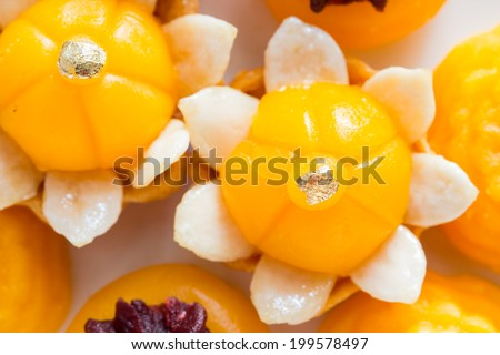 Well known traditional thai dessert present - stock photo