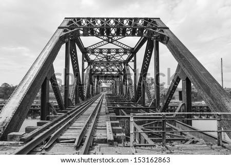 Welland Canal Baltimore Truss Swing Bridge - stock photo