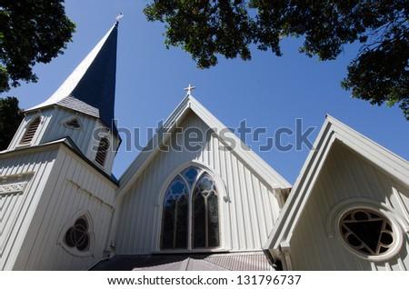 Wellington Old St Pauls Church exterior. - stock photo