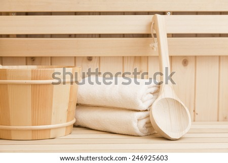 wellness and spa accessories - stock photo