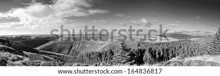 welsh landscape - Bwlch Nant Yr Arian - stock photo
