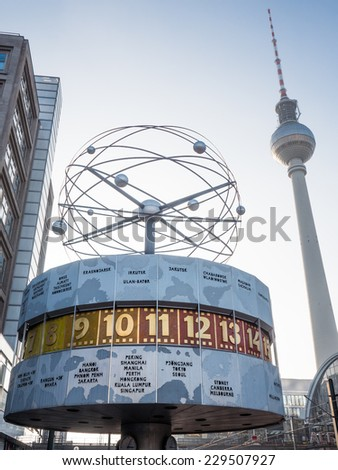 Weltzeituhr - stock photo