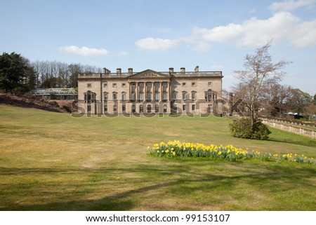 Wentworth Castle House in Barnsley, South Yorkshire, UK - stock photo