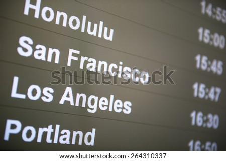 West Coast Departures - stock photo