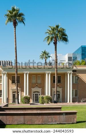 West hall building of Arizona State University campus - stock photo