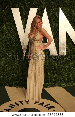 WEST HOLLYWOOD, CA - FEB 26: Bar Refaeli at the Vanity Fair Oscar Party at Sunset Tower on February 26, 2012 in West Hollywood, California. - stock photo